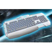 Buy cheap Membrane ergonomic gaming keyboards backlight With 19 key anti-ghosting from wholesalers