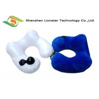 Buy cheap Small Volume Inflatable Travel Pillow Soft Polyester Velvet Material For Home / Office from wholesalers