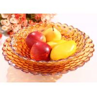 Buy cheap 370*70*120mm Home Decorations Crafts , Practical Hand Blown Glass Fruit Dish from wholesalers