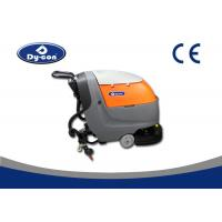 Semi Automatic Hand Push Walk Behind Floor Scrubber Sweeper Ametek Suction Motor
