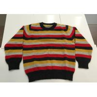 Buy cheap Colors Stripe Softness Pullover Knitted Sweaters For Kids Long Sleeve Crew Neck 100% Cashmere from wholesalers