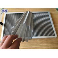 Buy cheap Wrinkled Dust Filter Mesh , Stainless Steel Dust Collector Air Filter from wholesalers