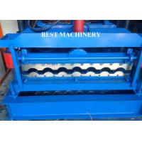 Buy cheap Glazed Corrugated Metal Roof Tile Roll Forming Machine PLC Control System from wholesalers