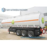 Buy cheap Colored Cargo Tractor Oil Tank Trailer 3 Axle With Gravity Discharge from wholesalers