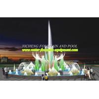 Buy cheap Customized Water Fountain Equipment , Programme Land / Pond Musical Fountain from wholesalers