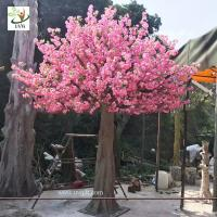 Buy cheap UVG 3 meters tall artificial trees with pink cherry blossom flowers for garden wedding decoration CHR142 from wholesalers