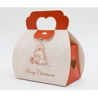 Buy cheap Recyclable Christmas Paper Gift Packaging Box With Handle Custom Design from wholesalers