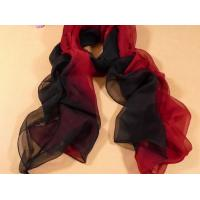 Buy cheap 2013 new fashion red and black gradient color Hand Painted Silk Scarf/chiffon scarves shawls from wholesalers
