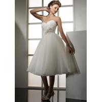 Buy cheap NEW!!! Short Low back wedding dress Plus size Sweetheart Bridal gown #dq5001 from wholesalers