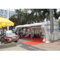 Buy cheap Aluminum Profile UV Resistant Car Outdoor Exhibition Tents White PVC Fabric Cover from wholesalers