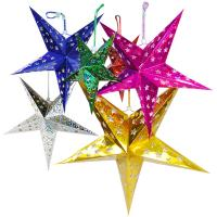 Buy cheap 45CM Hanging Christmas Paper Star Lantern Pattern with Led Candle from wholesalers