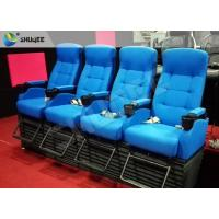 Buy cheap Bright Blue Electronic / Hydraulicz 4D Movie Theater Chair 4D Cinema Simulator product