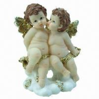 Buy cheap Polyresin craft in baby angel figurine design, suitable for promotional and gift purposes from wholesalers