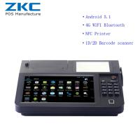 Buy cheap ZKC800 Android 5.1 8inch desktop pos with 3g/4g,wifi,nfc/rfid,scanner,printer from wholesalers