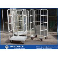 Buy cheap Galvanized Durable Steel Roll Containers Foldable Medium Duty With Loading Capacity from wholesalers