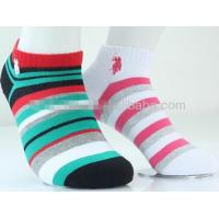 Buy cheap Colorful fashion striped design knitted cotton low cut dress socks for women from wholesalers
