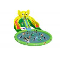 Buy cheap Elephant Giant Commercial Inflatable Water Slides Double Lane With Pool from wholesalers