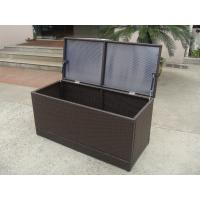 Buy cheap Brown All Weather Patio KD Resin Wicker Storage Box With Air Pump from wholesalers