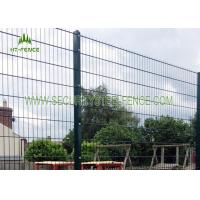 Buy cheap Anti Rust 656 Welded Mesh Double Wire Fence Waterproof With 60 × 60 Square Post from wholesalers