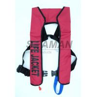 Buy cheap 150N EN / ISO Automatic Inflatable Life Jackets 210D Nylon TPU Single Air Chamber from wholesalers