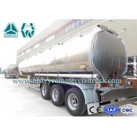 Buy cheap 170 HP 3 Axle Fuel Tank semi trailer Sinotruk 13 Ton Customized Design from wholesalers