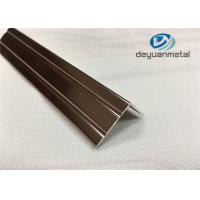 China 6063 T5 Polishing Bronze Aluminium Trim Extrusion Profile GB/75237-2004 on sale