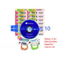 Quality 32/64 bit Windows 10 Product Key Sticker Win 10 Pro COA X20 Online Activate for sale
