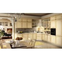 Buy cheap nature wood grain veneer MDF board with GREECE classical Kitchen cabinet with cheap price BS8025KC from wholesalers