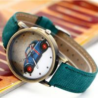 Buy cheap Cowboy Men Leather Strap Watches Retro Style ,  Printed Leather Banded Watches from wholesalers