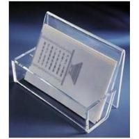 Buy cheap Magazine Transparent Acrylic Display Stands Brochure Holder With Artwork Printing from wholesalers