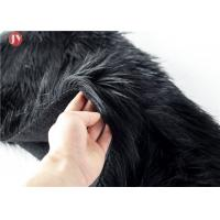 Buy cheap silk black acrylic plush knitted fake fur fabric for garments from wholesalers
