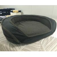 Buy cheap Luxury Sofa Round Memory Foam Bolster Dog Bed Comfortable Soft Washable Pet Bed from wholesalers