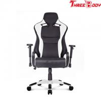 Buy cheap Comfortable High Back Office Chair , Black Pu Leather Race Car Style Office Chair from wholesalers
