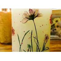 Round Shape Dry Leaves Artwork , Dried Flower Candles For Party Table Ornaments