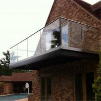 Buy cheap Outdoor railing balustrade balcony frameless tempered glass fence from wholesalers