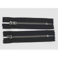 Buy cheap Black Nickel Teeth Oxidized Fire Retardant Zippers For Clothing / Luggage from wholesalers