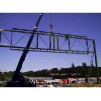 Buy cheap Gantry billboard advertising galvanized steel structure from wholesalers