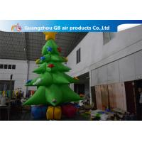 Buy cheap Customized Giant Inflatable Christmas Tree Yard Decoration , Inflatable Tree With Ornaments product