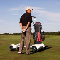 Buy cheap EcoRider golf scooter electric golf cart scooter with removable battery from wholesalers