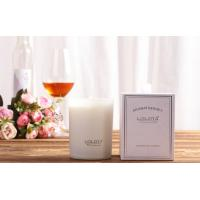 Buy cheap Luxury Matte White Glass Home Scented Candle 100% Soy Wax with Gift Box from wholesalers