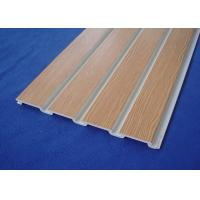 Buy cheap Store Fixture PVC Wall Cladding Panels , 4x8 Pvc Slatwall For Garage Wall from wholesalers