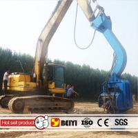Buy cheap BEIYI Excavator hydraulic pile driver hammer for sheet pile attachments from wholesalers