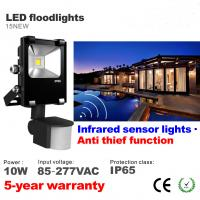 Buy cheap 10W LED Floodlight with infrared motion sensor LED Flood light Outdoor Waterproof lamp from wholesalers