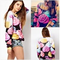 Buy cheap Women The Cake Pullovers Funny 3D Sweatshirts Food Print Plus Size Galaxy Sweaters Hoodies from wholesalers