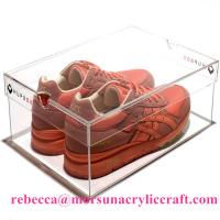 Buy cheap Eco-friendly High Quality Acrylic Shoe Box Plastic Shoes Display Rack from wholesalers