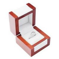 Buy cheap Elegant Jewelry Handmade Wooden Boxes , Solid Wood Jewelry Box With Long Lasting Leatherette from wholesalers