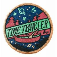 Buy cheap Time Traveler Woven Badges Personalised Embroidered Iron On Badges from wholesalers