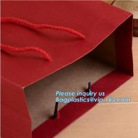 Buy cheap New hot sale brown packaging paper carrier bag take away fast food paper bag,packaging paper bags with logo large flat k from wholesalers