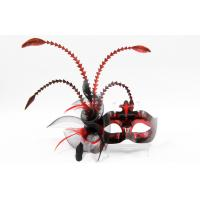 Buy cheap Hand Made Feather Masquerade Masks With Macrame Craft Flower For Female from wholesalers