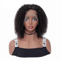 Buy cheap 150% Density Lace Front Human Hair Wigs / Indian Remy Human Hair Kinky Curly Front Lace Wig from wholesalers